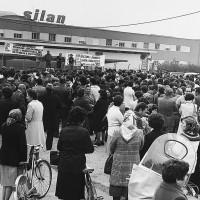 Manifestazione davanti alla Silan, Carpi [ISMO, AFPCMO]