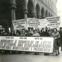 Manifestazione sindacale per la regolarizzazione del lavoro a domicilio [ISMO, AFPCMO]