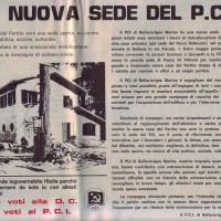 """Articolo in prima pagina del periodico comunista bellariese """"La Voce della Città"""" del 15 maggio 1979 intitolato """"La nuova sede del P.C.I."""""""