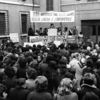 Maternità come valore sociale, piazza XX settembre, 8 marzo 1975