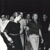 Iva Zanicchi alla Festa dell'Unità di Poggio Renatico, 1977
