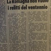 L'Unità Emilia Romagna, 20 aprile 1969, p. 12- articolo in merito alla mobilitazione contro un annunciato raduno nazionele dell'MSI a Predappio