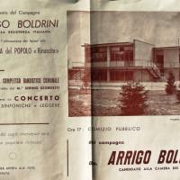 21 aprile 1963. Santarcangelo di Romagna. Volantino per l'inaugurazione della nuova sede del Pci santarcangiolese
