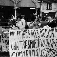 Luglio 1980. Piazza Trento e Trieste, Ferrara con Ansa Siroli