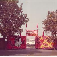 L'ingresso della festa del 1974, su viale Fontanelli [ISMO, AFPCMO]