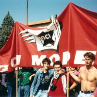 Gruppo della FGCI di Modena alla marcia per la pace Perugia-Assisi, 1988 [ISMO, AFPCMO]