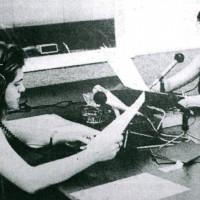 1983 ca. Radio San Marino. Due delle storiche giornaliste della radio, incaricate delle trasmissioni d'informazione: Teresa Zangara, Stefania Arlotti
