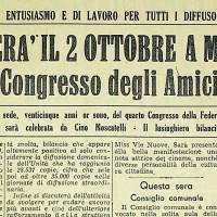 Articolo del 1955 che ricorda le attività del congresso della Federazione Comunista Modenese di 25 anni prima  [L'Unità, 23 settembre 1955]