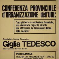 Casa dello Studente, novembre 1974. Conferenza organizzazione Udi