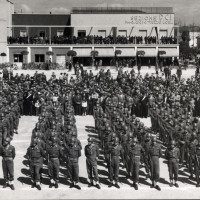 Alfonsine, piazza Gramsci, 10 aprile 1955 (anniversario della liberazione di Alfonsine)