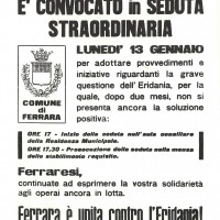 Volantino, 11 gennaio 1969 (da Processo all'Eridania, Documentario a cura di Renato Siiti, Editori Riuniti, 1970)