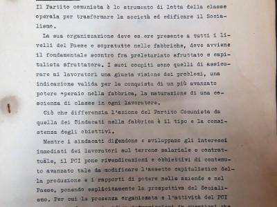 Partito comunista italiano – PCI.  Sezione di Forlimpopoli
