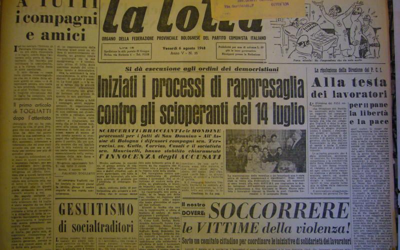 Questura e Prefettura di Bologna – Scontri dopo l'attentato a Togliatti