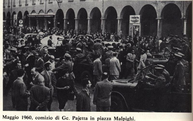 Piazza Malpighi, Bologna – Cariche della polizia durante un comizio di Pajetta