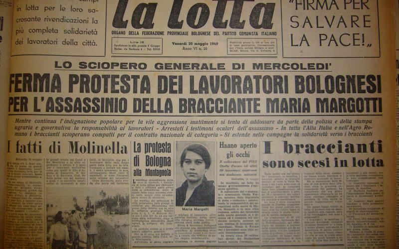 Marmorta di Molinella – Uccisione di Maria Margotti