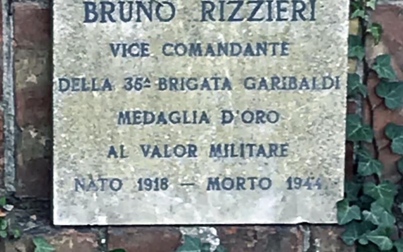 Ferrara, lapide commemorativa di Bruno Rizzieri
