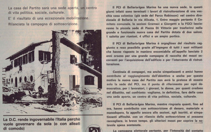 BELLARIA-IGEA MARINA, Sede PCI