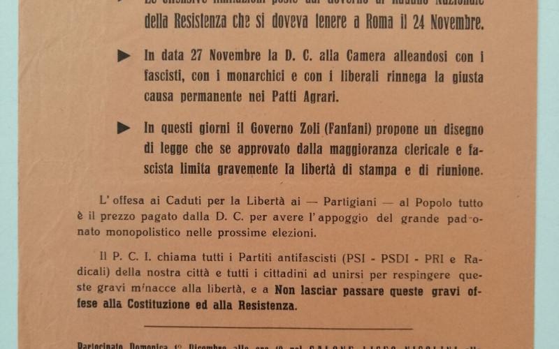 Partito comunista italiano – PCI.  Federazione provinciale di Piacenza